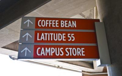 Go Campus programmer - Skilt på campus