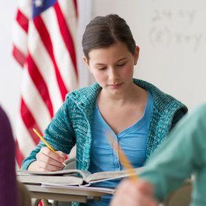 High School USA pris - Kvindelig studerende