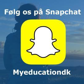 Følg os på Snapchat - MyEducation