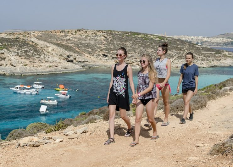 Junior students in Comino_Blue Lagoon